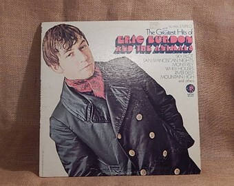 ERIC Burdon and the ANIMALS - The Greatest Hits of Eric and the Animals - 1969 Vintage Vinyl Record Album