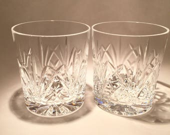 6 Waterford Crystal Double Old Fashioned Glasses