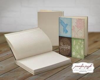 Inspire Hummingbird 5x7 Hardback Bound Journal -Inspirational, Word Art
