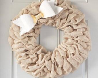 Burlap Easter Wreath, Heart Wreath, Red Wreath, Burlap Wreath, Valentine's Wreath, Interchangeable Bows