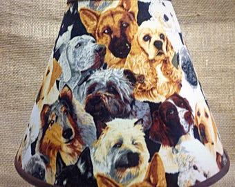 Multi Breed Dogs Lamp Shade