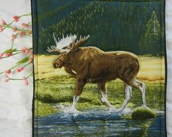 Quilted Trivet - Adirondack Moose
