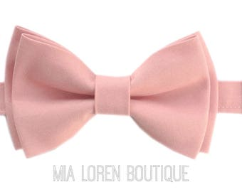 Blush Bow Tie, Blush Pink Bow Tie, Adult & Children, Made in the USA, Use code TENOFF5 at checkout for 10% off 5 or more!