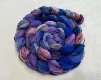 Hand Dyed Merino/Black Tencel Roving - 80/20 - 4 oz