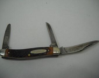 Vintage Kabar 3 Blade Pocket Knife FREE SHIPPING