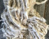 Handspun Yarn Suri Alpaca Light Fawn Shaggy