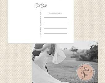 Thank You Postcard // Printable PDF