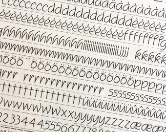 SQUIRE is a  Vintage Letraset Instant Lettering Rub Off Alphabet Sheets