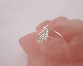 Wing sterling silver ear cuff earring