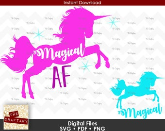 Unicorn Magical AF SVG Files