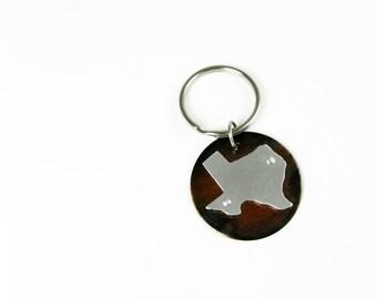 Texas Keychain - Housewarming Gift - United States Travel Key Chain