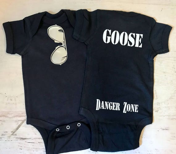Super Shiny Silver Aviator Sunglasses Navy bodysuit THE ORIGINAL with Goose Danger Zone on the Bum Pick your Favorite call sign