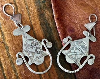Old SILVER Tuareg Earrings, Niger
