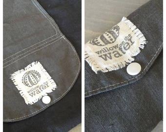 Special order for FLORA'S DAUGHTER  - custom gray linen shopping bag.
