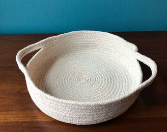 Medium Coiled Rope Tray With Handles