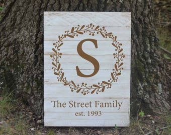 Personalized family sign - family name - Farm house decor - Rustic decor - Rustic sign - hand painted Pallet sign