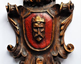 Vintage Vanguard Studios - Wall Sculpture - King Plaque - Vanathane - 1967 - Spanish Style