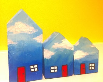 Tiny Sky houses- Set of three