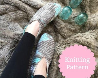 Vintage Knit Slipper Pattern | Knit Slipper Pattern | Knit Slipper Sock Pattern | Grandma Knit Slipper Pattern | Knit House Slipper Pattern