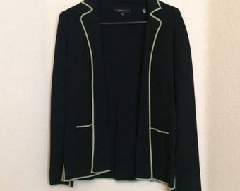 BCBG Maxazria black knit blazer/cardigan Large