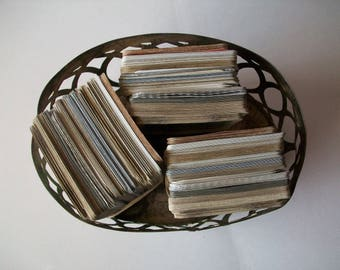 a bundle of 130 vintage mix playing cards for art projects | playing cards | paper embellishments | collage supply | mixed media supplies