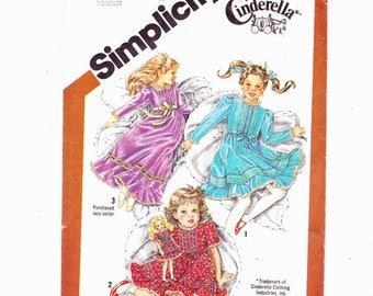 Simplicity 5354 Sz 2 Toddlers Cinderella Ruffled Dress and Doll Dress UNCUT
