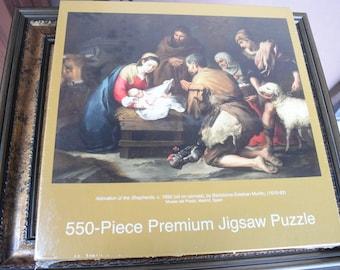 Adoration of the Shepherds puzzle, 550 piece puzzle, jigsaw puzzle, religious puzzle
