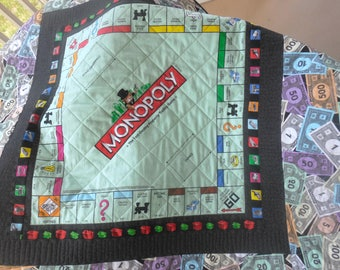 Monopoly Game Table Topper-Reversible-Free Shipping to US and Canada