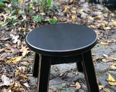 "Farmhouse/ painted colors/ round stool/ riser/ step stool/ foot stool/ 10"" H"