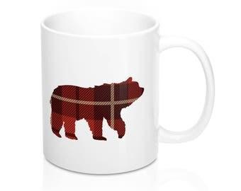 Plaid Bear Coffee Mug