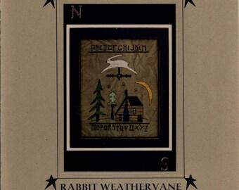 Prairie Moon: Rabbit Weathervane (OOP) - Cross Stitch Pattern