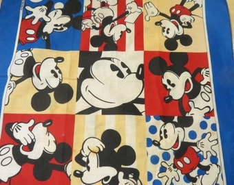 Vintage Bandana Made in USA Mickey Mouse #056