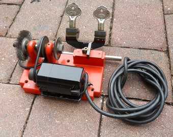 SOLD do not purchase ILCO Key Cutting Machine Vintage & Works Red Key Duplicator Maker