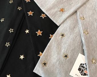 Wide Cotton Star Headwrap