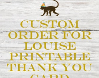 Reserved listing for Louise for a Printable Thank you card to match the Twinkle Twinkle Little Star Baptism Invitation