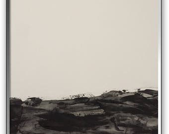 Original absrtact art 18x24 inches on heavy art paper titled MINIMAL LANDSCAPE