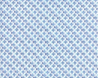 Kate Spain Voyage Fabric by the Yard, Bomeo in Baltic Blue, Moda Fabrics, 27288-16