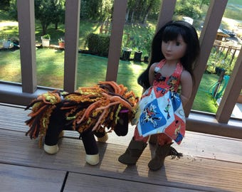 """Cowgirl, Western outfit with Boots, 16"""" doll clothes, A Girll for All Time"""