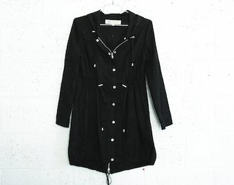Summer Sale Embroidered winter coat ,Black.