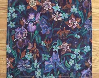 Handmade Liberty Fabric Pocket Square Handkerchief in Brightley