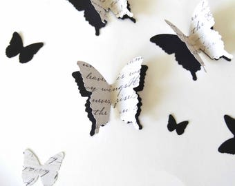Formal 3D Butterfly Confetti, layered butterflies, anniversary decor, wedding table accent, bridal shower decor