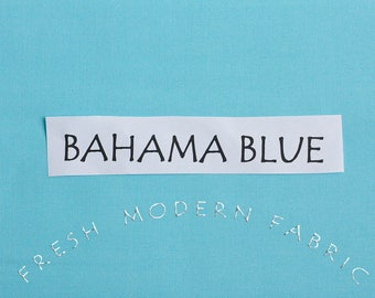 21 Inch End of Bolt Remnant Bahama Blue Kona Cotton Solid Fabric from Robert Kaufman, K001-1011