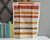 Mid-Century Linen Kitchen Equivalents Tea Towel