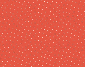 Fabric by the Yard - Glamper Dots in Red - from Riley Blake