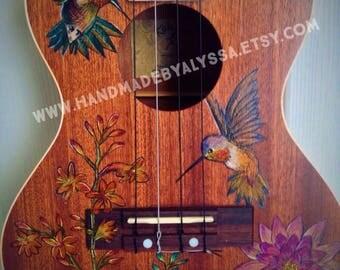 Hummingbird Handpainted Ukulele