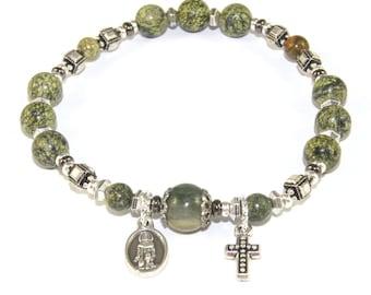 Saint Peregrine Chaplet Bracelet, Patron Saint of Cancer Patients