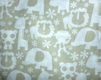 ON SALE 30% OFF Jungle Animals Cotton Fabric by the Yard