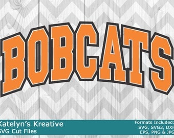 Bobcats Arched SVG Files