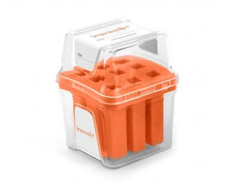 Orange Metal Stamp Block Holder, Metal Stamp Storage Container, Use with ImpressArt 4mm stamps, fits 9 stamps up to 8mm square, tol0811