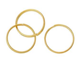 500 Bulk Gold Plated Double Loops Split Rings, Gold Jump Rings 15mm, jum0200b